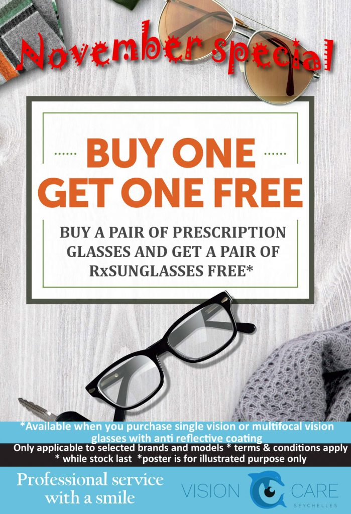 Buy One Get One Free at Vision Care